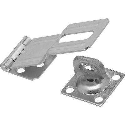 4-1/2 in. Zinc Plated Swivel Staple Safety Hasp