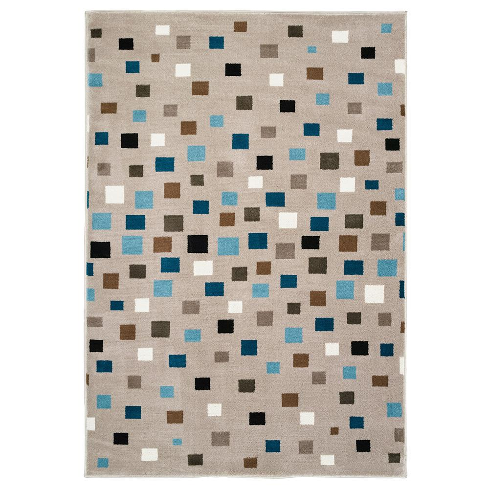 Whimsical Light Blue 5 ft. x 7 ft. Indoor Area Rug