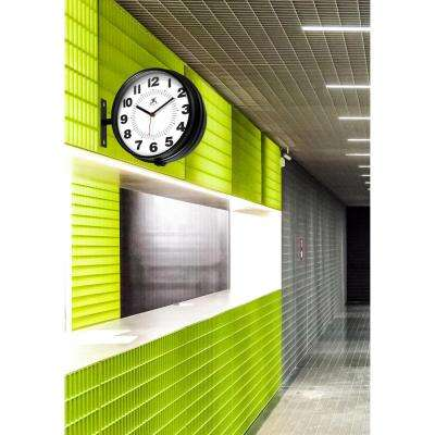 Hallway 11 in. x 13 in. Round Double Sided Clock