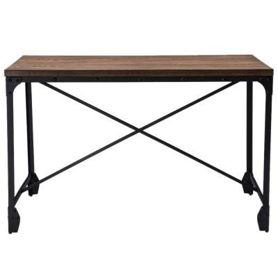 48 in. Rectangular Brown Writing Desks with Storage