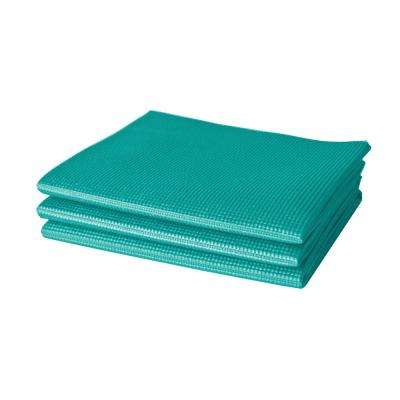 3 ft. Teal Folding Yoga Mat