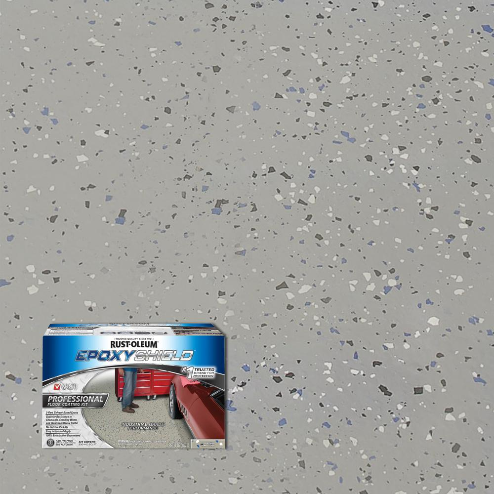 Silver Gray Semi Gloss Professional Floor Coating Kit 2 Pack