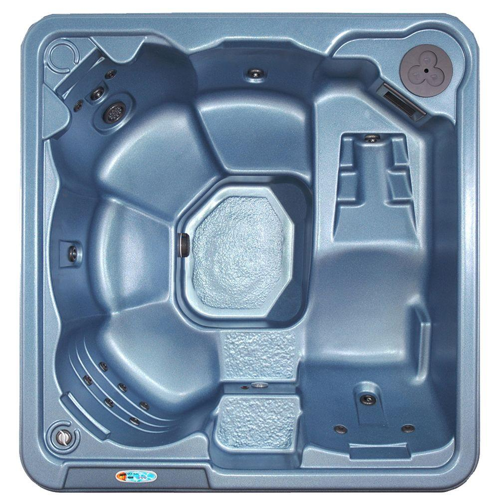 QCA Spas Gibraltar 6-Person 30-Jet Spa with Ozonator, LED Light, Polar Insulation and Hard Cover