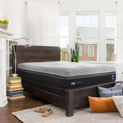 Hybrid Performance Copper ll Full 13.5 in. Firm Mattress with 5 in. Low Profile Foundation