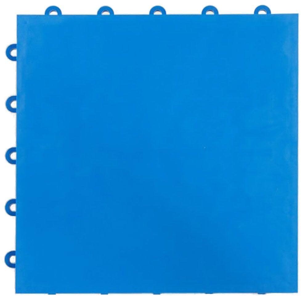 Court Floor Flat Top Blue 12-1/8 in. x 12-1/8 in. x