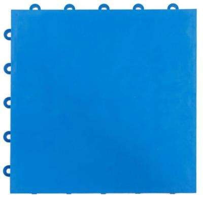 Court Floor Flat Top Blue 12-1/8 in. x 12-1/8 in. x 5/8 in. Interlocking Modular Floor Tile (Case of 24)