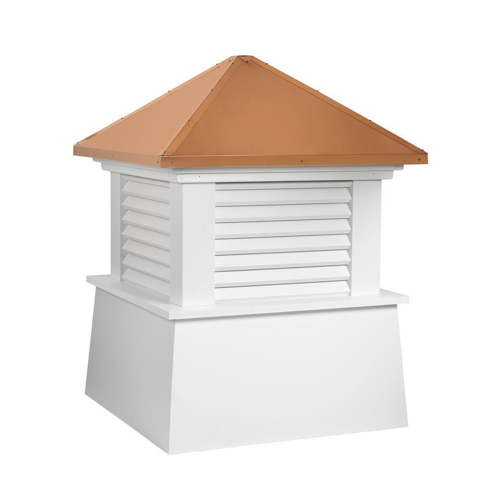 Manchester 26 in. x 32 in. Vinyl Cupola with Copper Roof