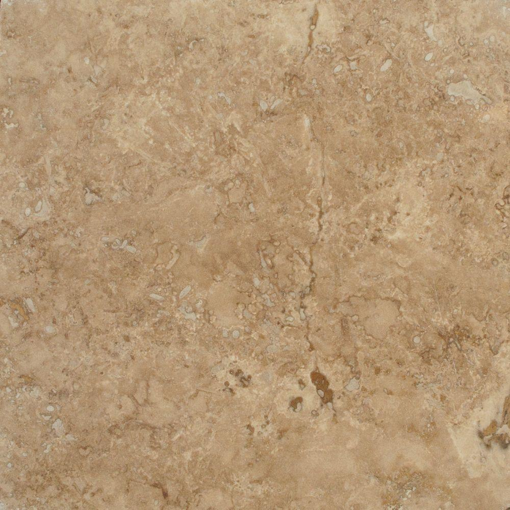 MS International Walnut Blend 18 in. x 18 in. Honed Travertine Floor and Wall Tile (9 sq. ft. / case)
