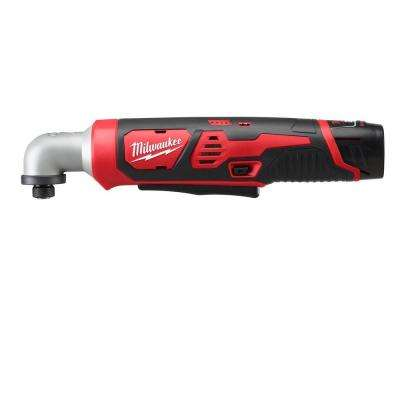 M12 12-Volt Cordless Lithium-Ion 1/4 in. Right Angle Hex Impact Driver Kit