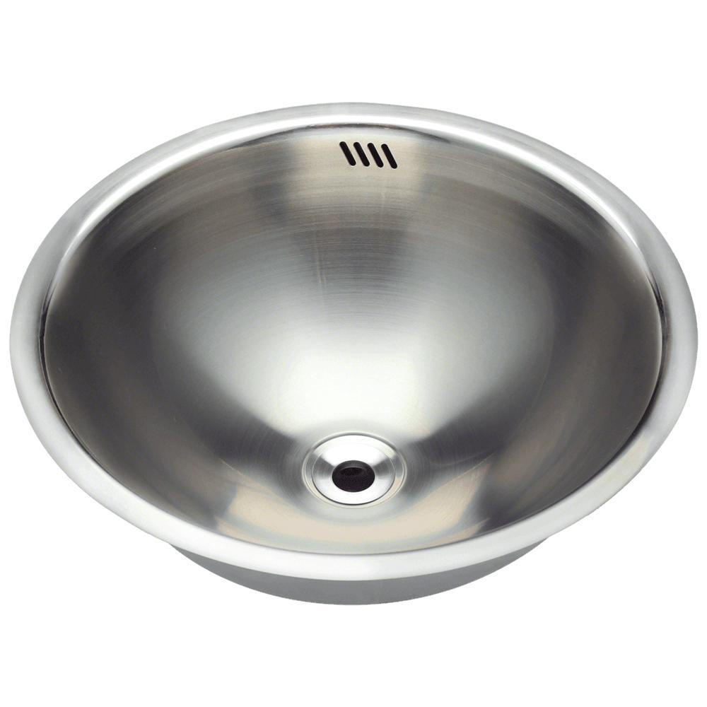 MR Direct Dual-Mount Bathroom Sink in Stainless Steel