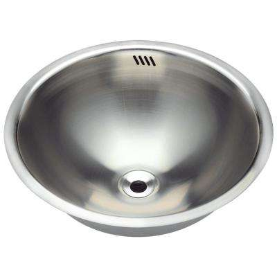 Dual-Mount Bathroom Sink in Stainless Steel