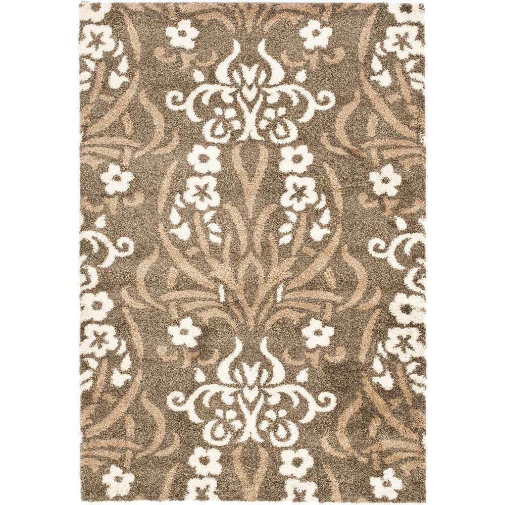 Safavieh Florida Shag Smoke Beige 11 Ft X 15 Ft Area Rug