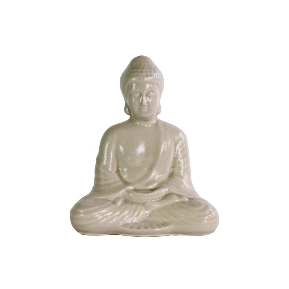 9 in. H Buddha Decorative Figurine in Gloss Finish