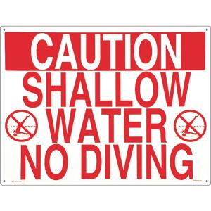 Poolmaster Residential or Commercial Swimming Pool Signs, Shallow Water No  Diving-40341 - The Home Depot