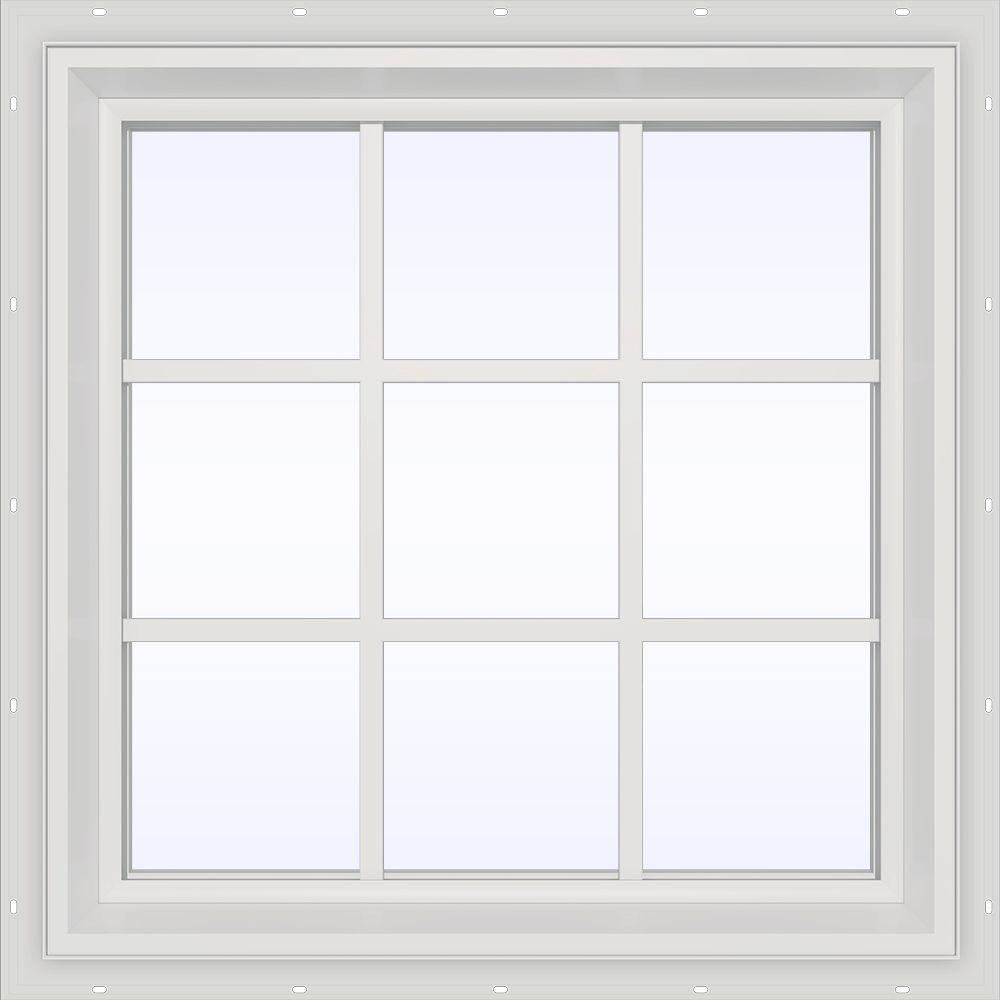 35.5 in. x 29.5 in. V-2500 Series Fixed Picture Vinyl Window