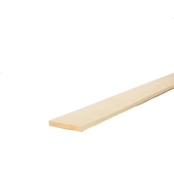 1 in. x 6 in. x 6 ft. Select Kiln-Dried Square Edge Whitewood Board
