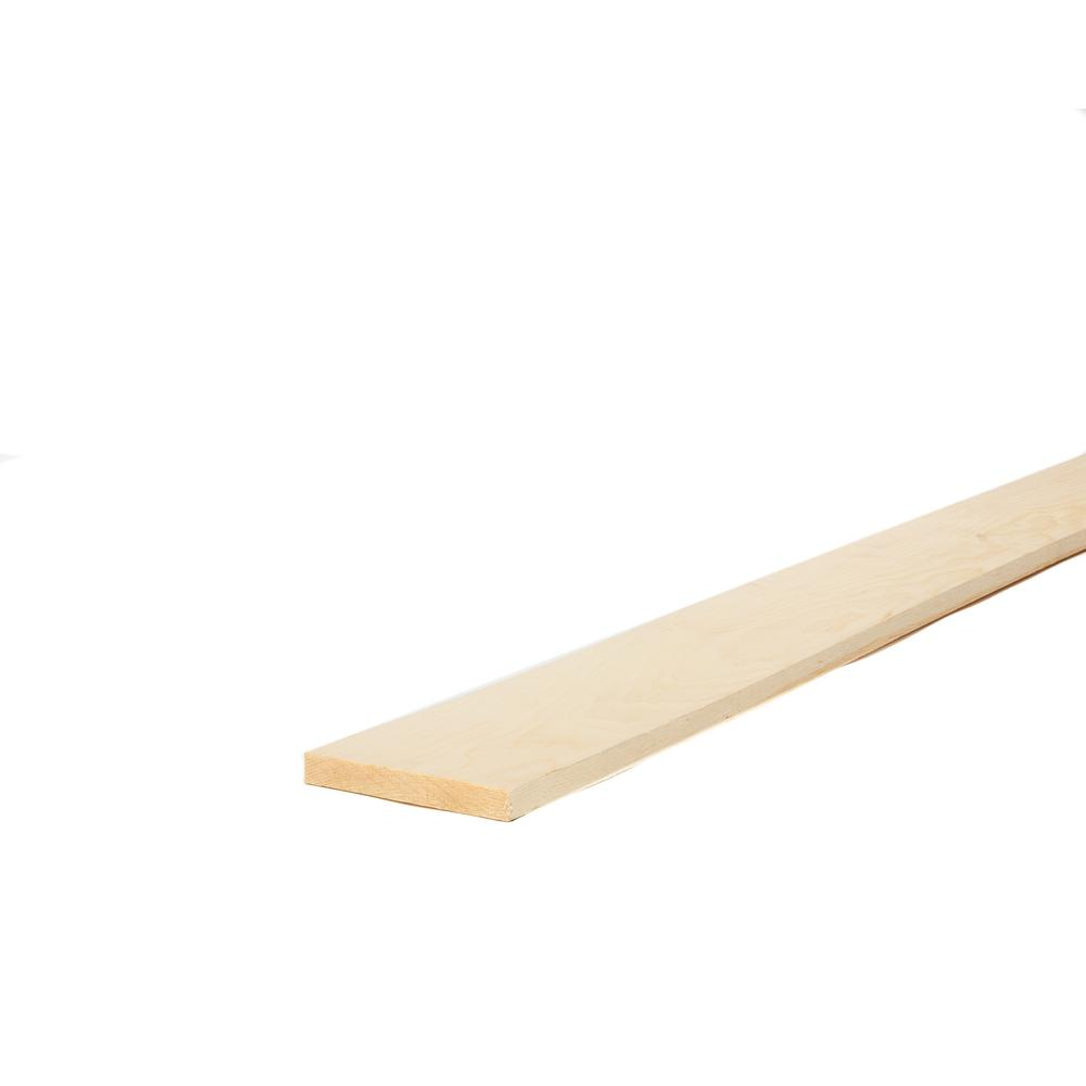 1 in. x 6 in. x 8 ft. Select Kiln-Dried Square Edge Whitewood Board