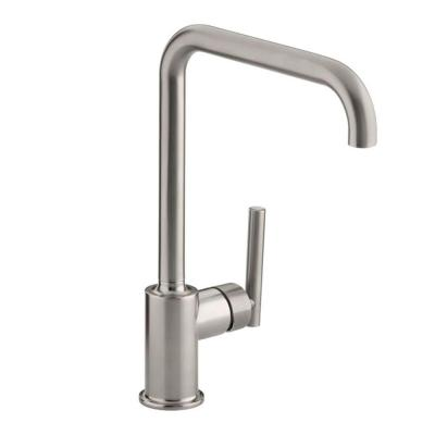 Purist Primary Swing Spout Single-Handle Standard Kitchen Faucet without Spray in Vibrant Stainless