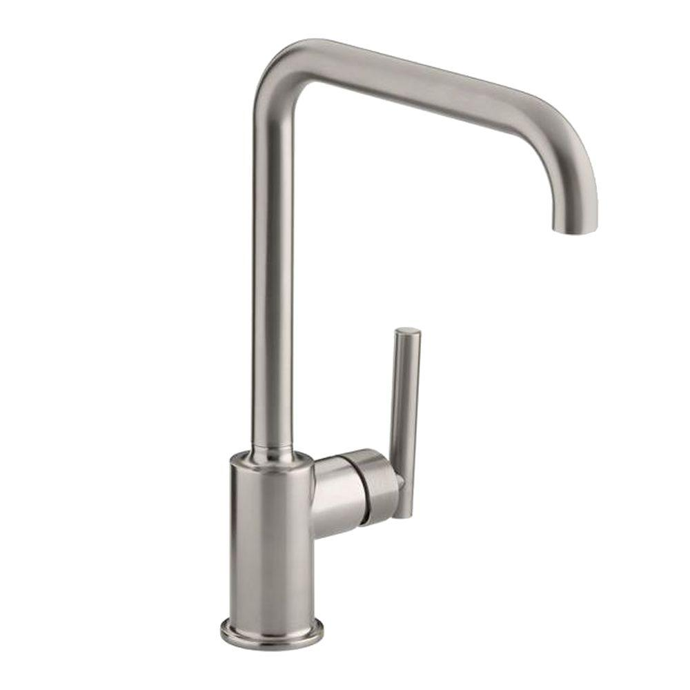 k the kitchen purist kohler image faucet chrome from spray cp pullout collection handle single com polished alternate faucets
