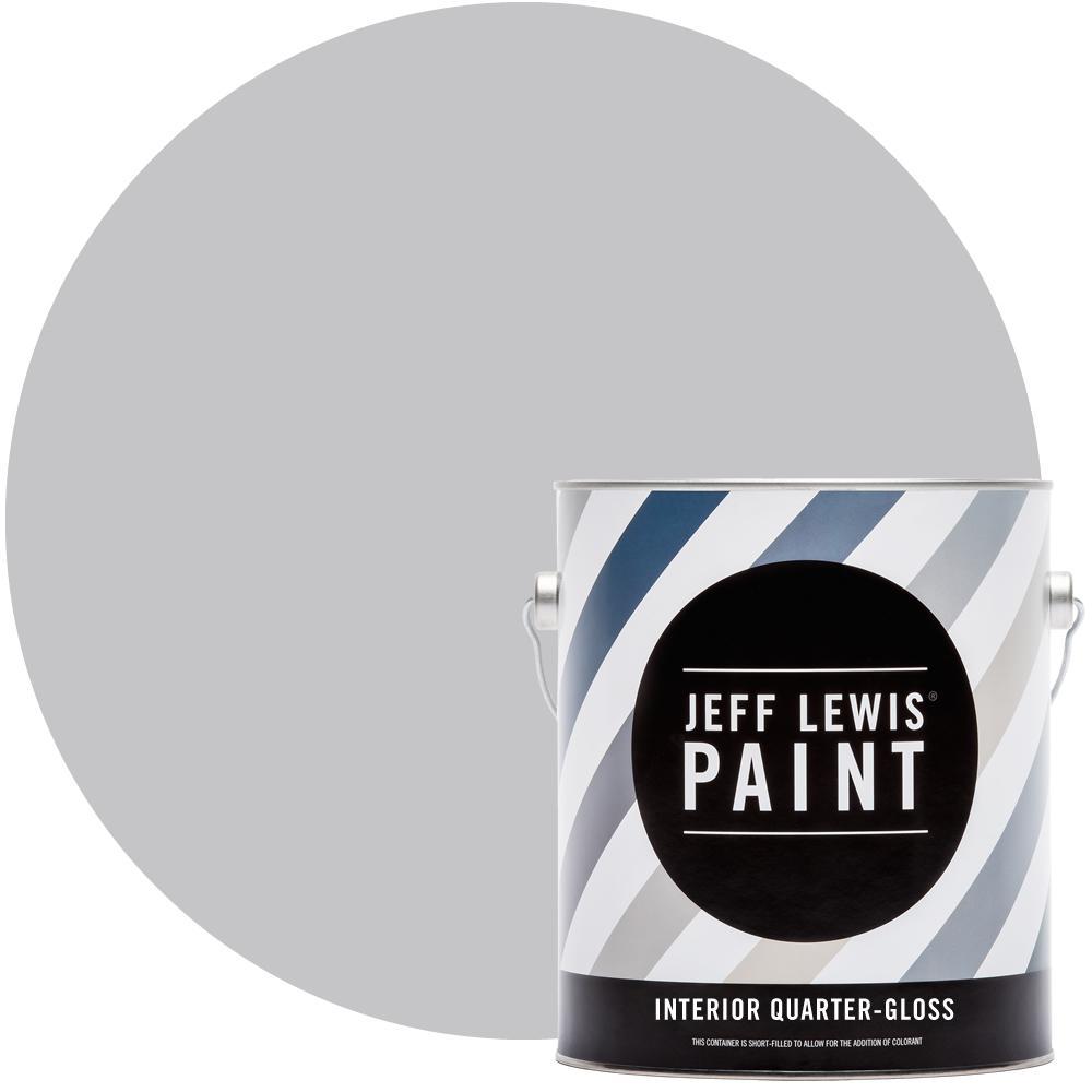 Jeff Lewis 1 gal. #711 Silver Fox Quarter-Gloss Interior Paint