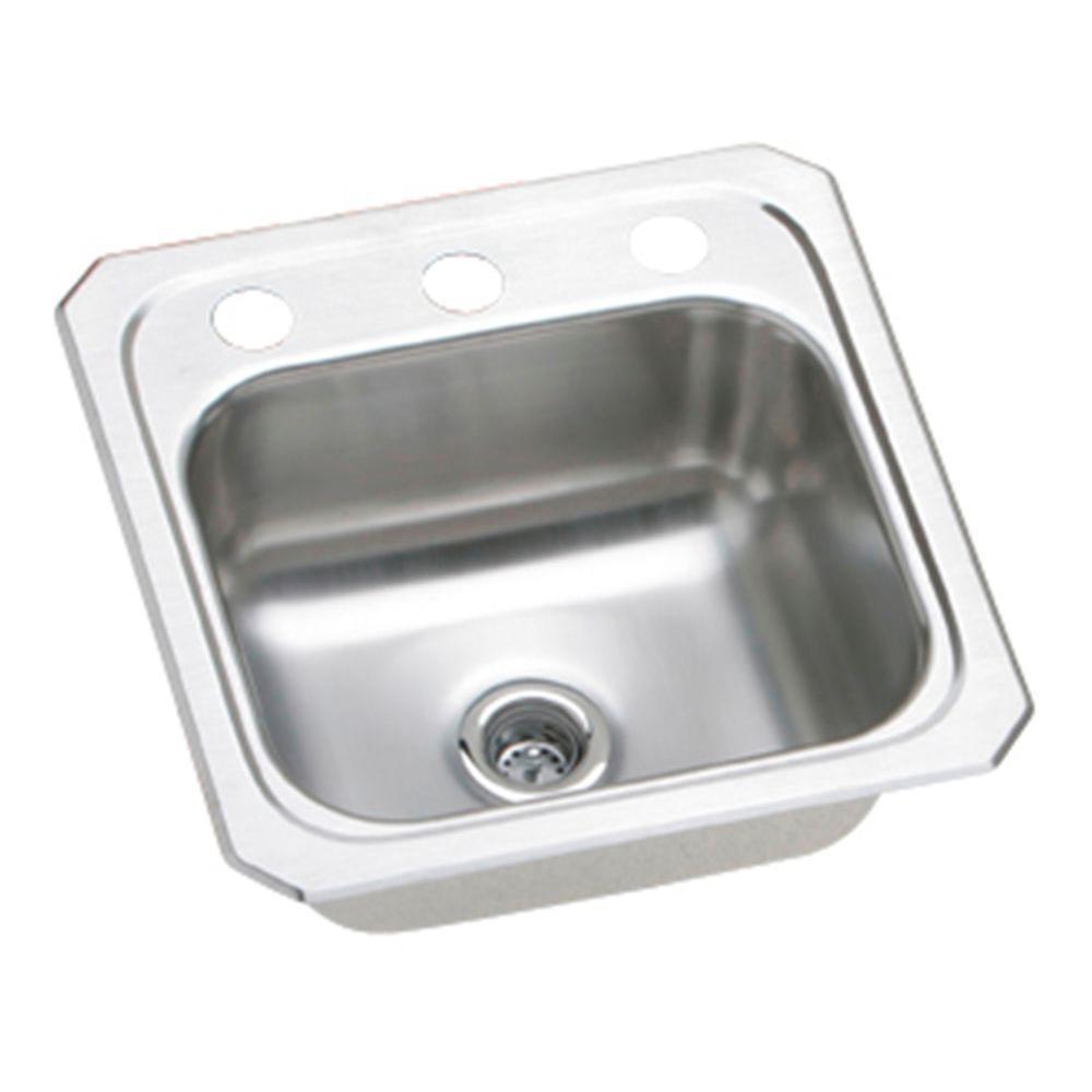Elkay Celebrity Drop In Stainless Steel 15 In. 2 Hole Bar Sink
