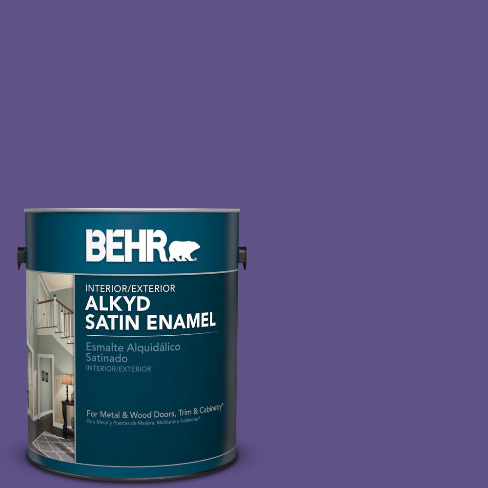 1 gal. #P560-7 King's Court Satin Enamel Alkyd Interior/Exterior Paint