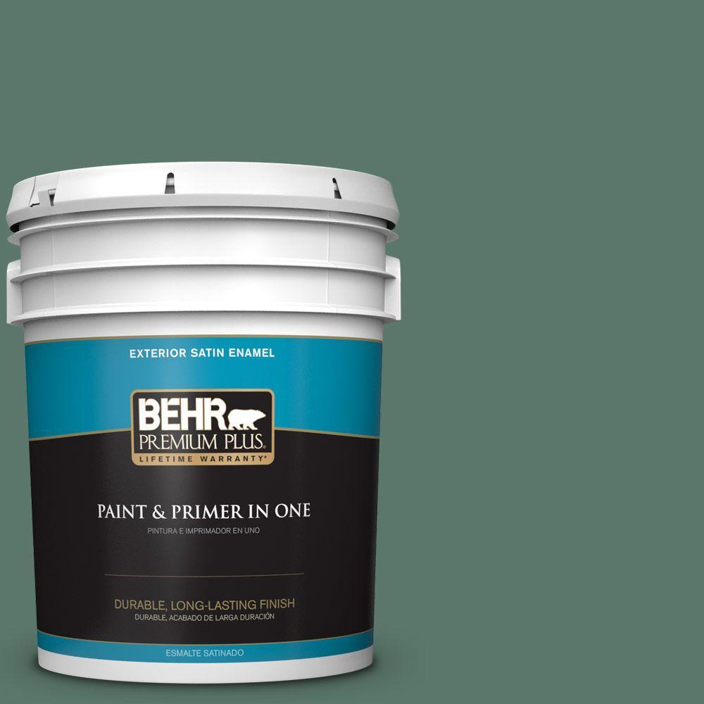 5-gal. #S420-6 Pine Brook Satin Enamel Exterior Paint