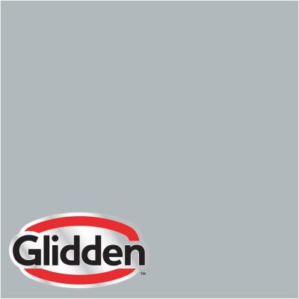 Glidden Premium 5 gal. #HDGCN41D Soft Feather Grey Satin Interior Paint with Primer