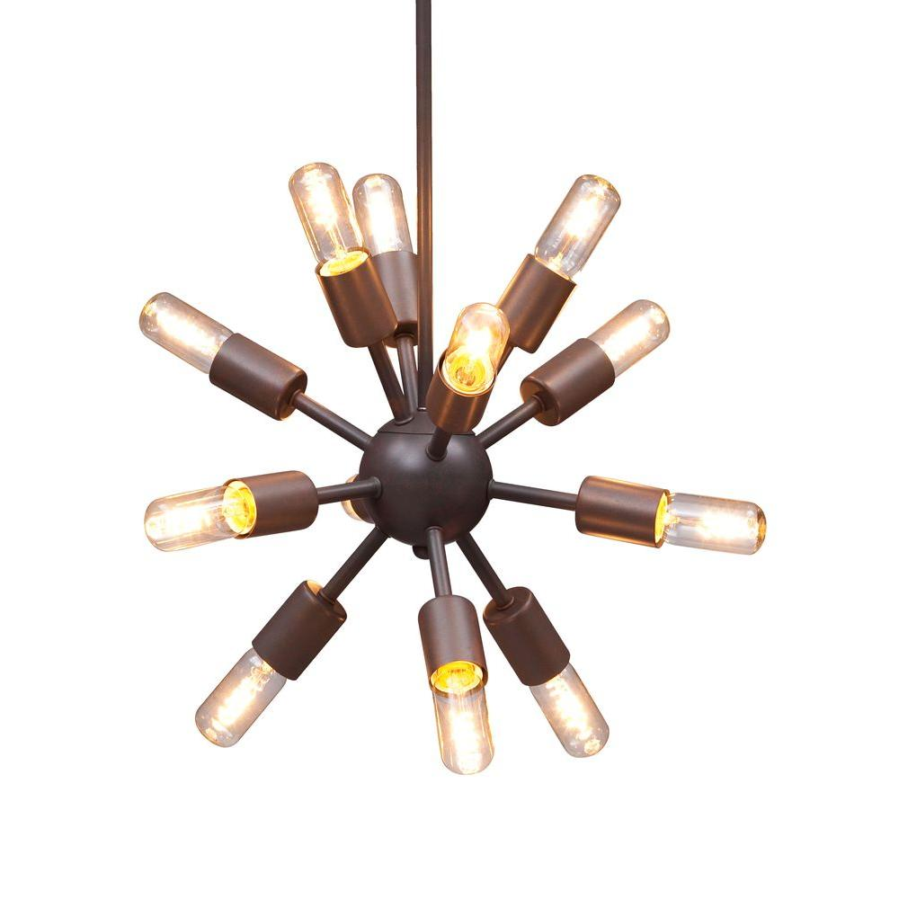 ZUO Sapphire 12-Light Rust Ceiling Small Pendant