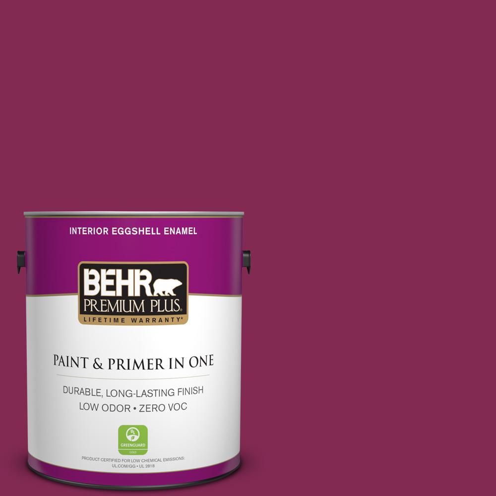 BEHR Premium Plus 1-gal. #S-H-100 Exotic Flowers Zero VOC Eggshell Enamel Interior Paint