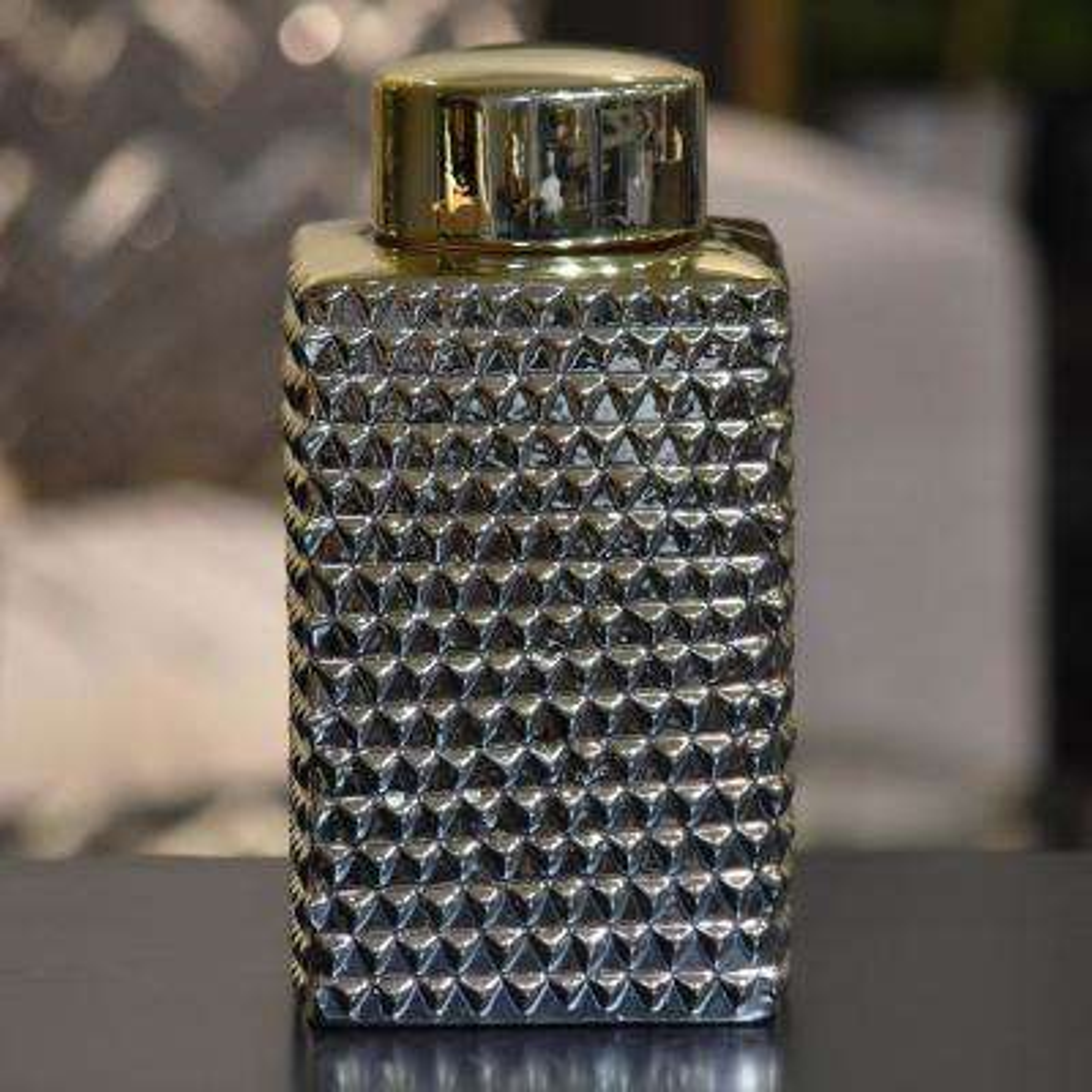 Champagne Polished Chrome Ceramic Decorative Vase