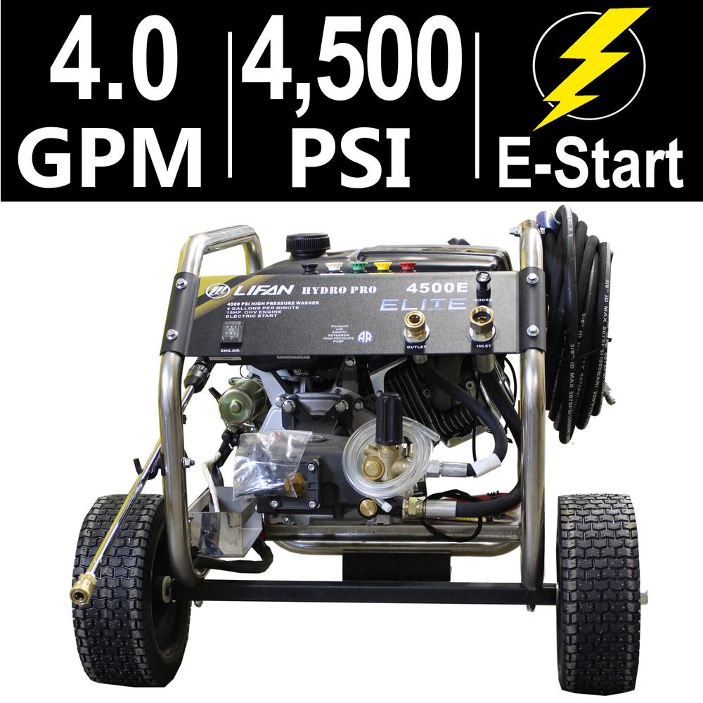 Elite Series 4,500 PSI 4.0 GPM AR Tri-Plex Pump Electric Start