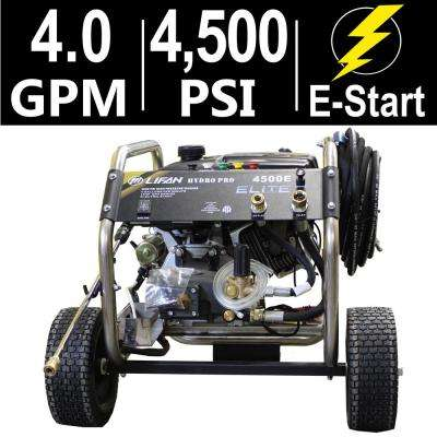 Elite Series 4,500 PSI 4.0 GPM AR Tri-Plex Pump Electric Start Gas Pressure Washer with Stainless Steel Frame