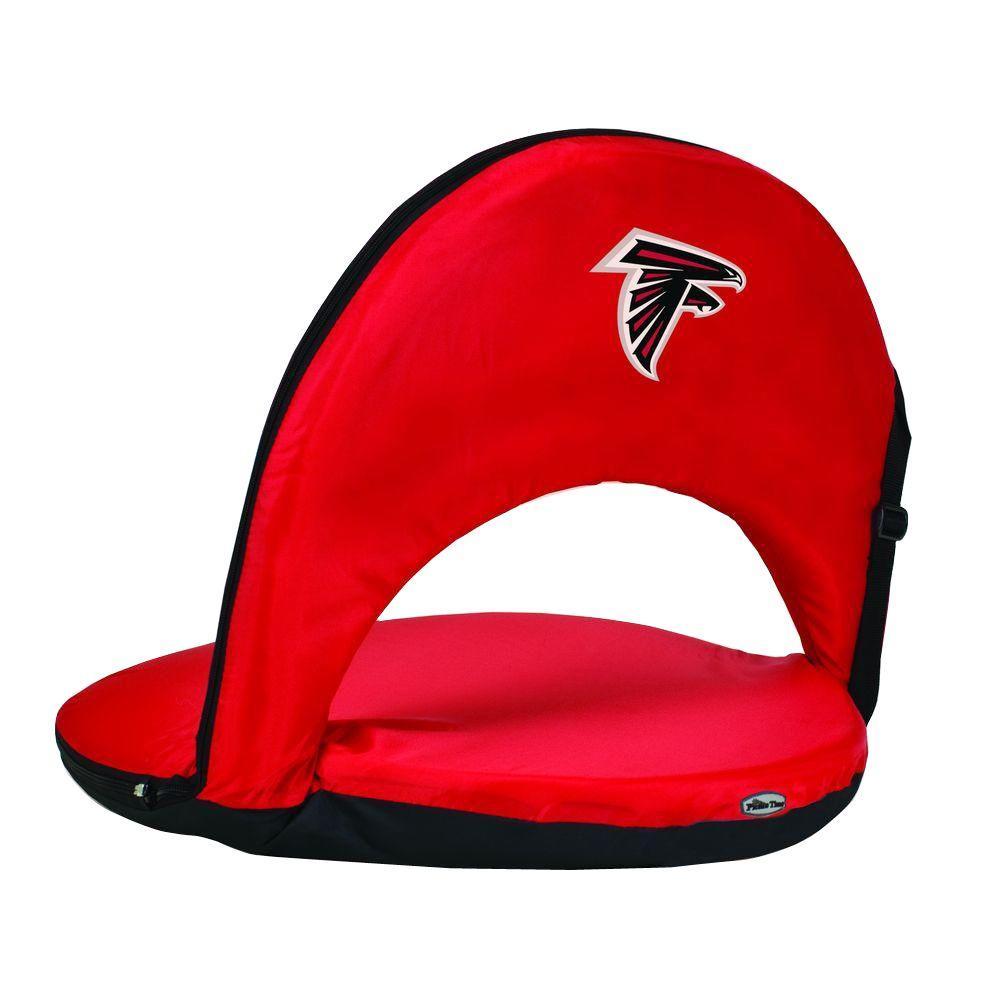Oniva Atlanta Falcons Red Patio Sports Chair with Digital Logo