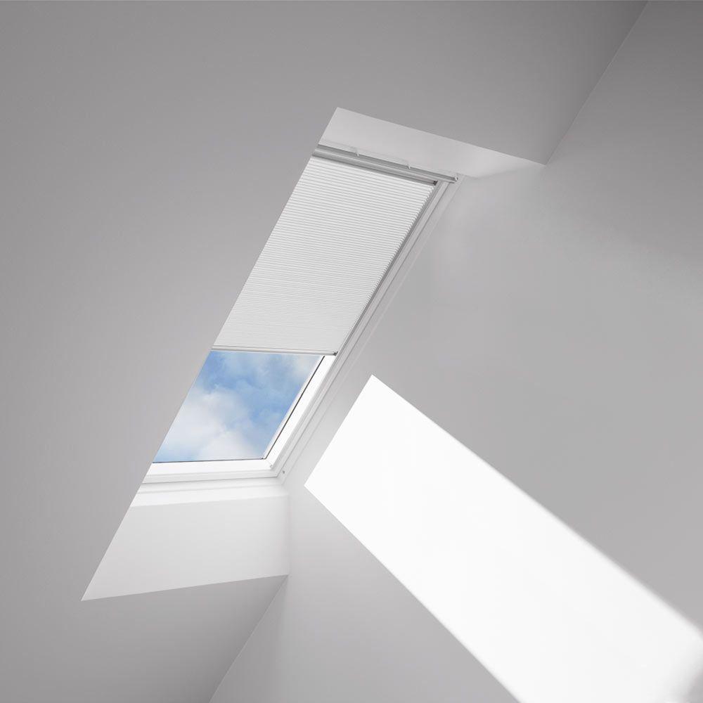Velux Solar Ed Room Darkening White Skylight Blinds For Fs C04 Models Fscd 1045 The Home Depot