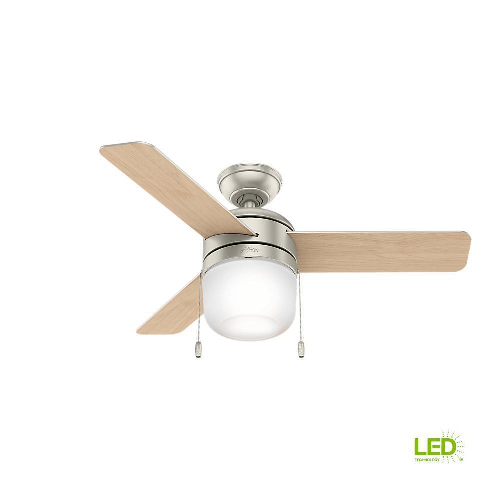 Acumen 42 in. LED Indoor Matte Nickel Ceiling Fan with Light Kit