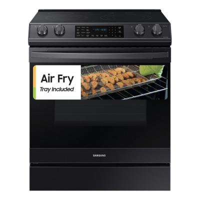 6.3 cu. ft. Slide-In Electric Range with Air Fry Convection Oven in Fingerprint Resistant Black Stainless Steel