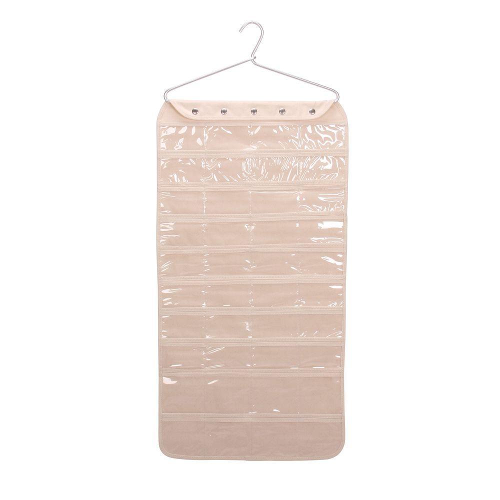 Exceptionnel Household Essentials 80 Pocket Premium Hanging Jewelry Organizer