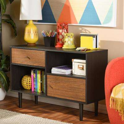 Auburn Dark Brown Storage Cabinet