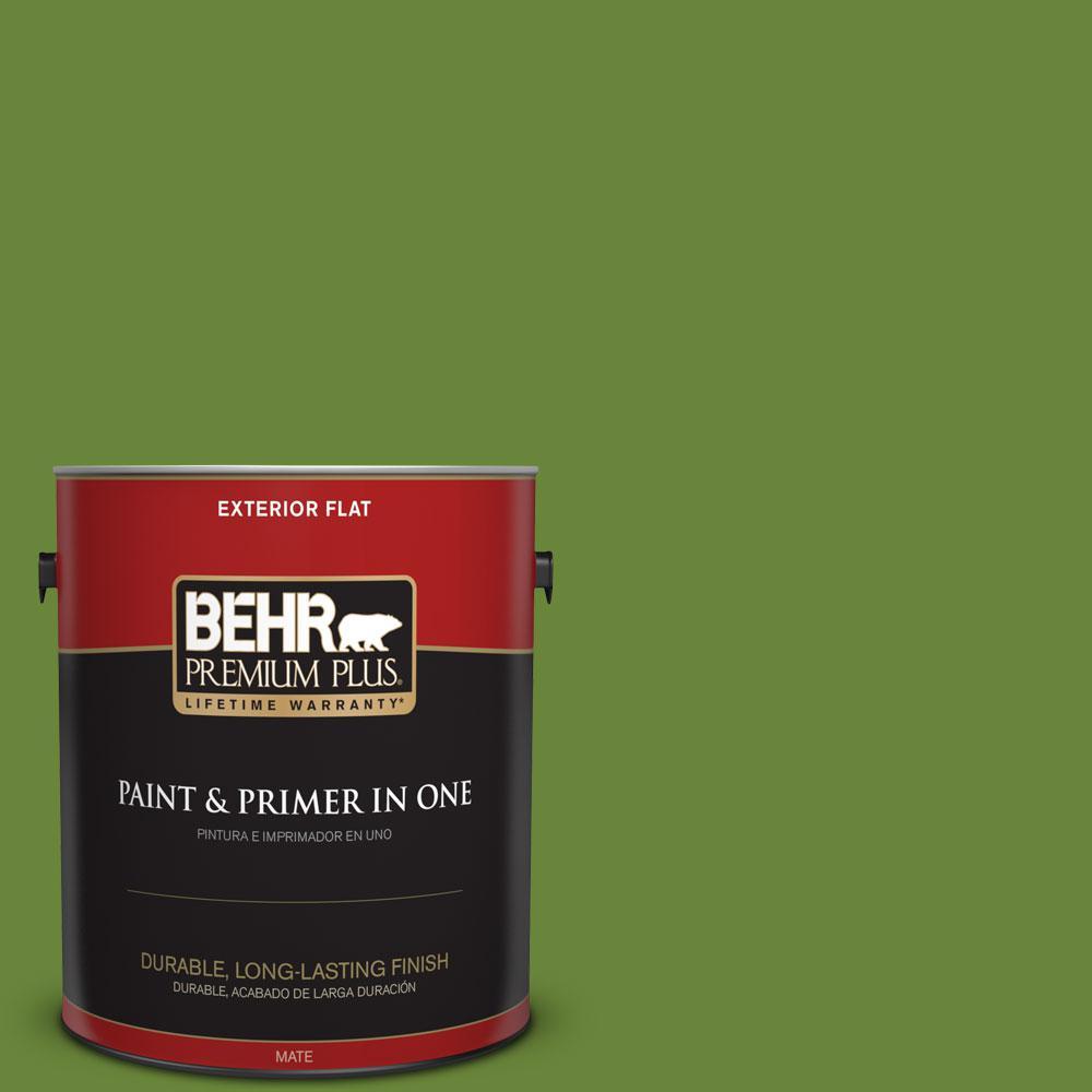 BEHR Premium Plus 1-gal. #P370-7 Sun Valley Flat Exterior Paint
