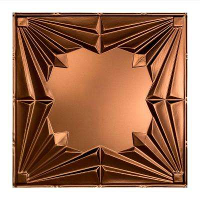 Art Deco - 2 ft. x 2 ft. Lay-in Ceiling Tile in Oil Rubbed Bronze