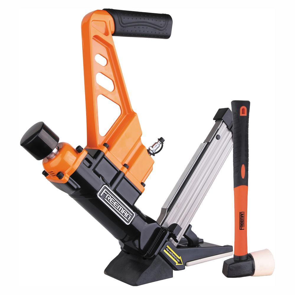 Lightweight Pneumatic 3-in-1 15.5-Gauge and 16-Gauge 2 in. Flooring Nailer and Stapler