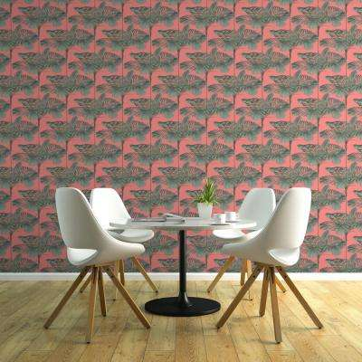 Debut Collection Mini Palms In Dusty Pink Premium Matte Wallpaper