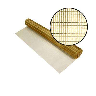 24 in. x 100 ft. Brite Bronze Screen