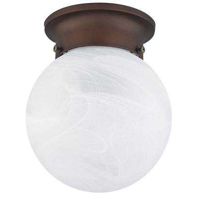 Coburn 1-Light Oil Rubbed Bronze Flush Mount