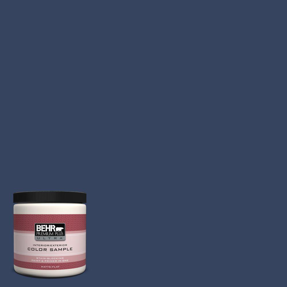 BEHR Premium Plus Ultra 8 oz. #610D-7 Night Watch Interior/Exterior Paint Sample
