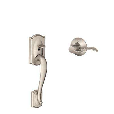 Camelot Satin Nickel Lower Half Handleset and Accent Left Handed Lever