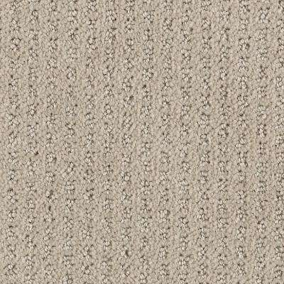 Carpet Sample - Game Face - Color Natural Textured 8 in. x 8 in.
