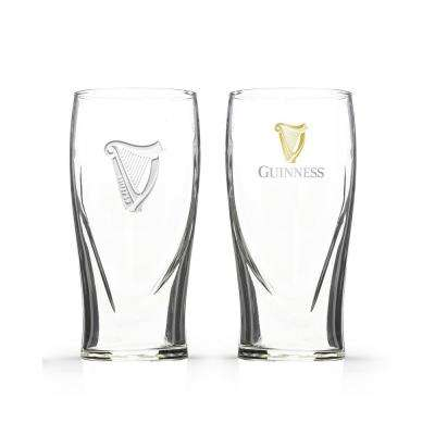 Boxed Gravity Glass with Real Gold Harp (Set of 2)