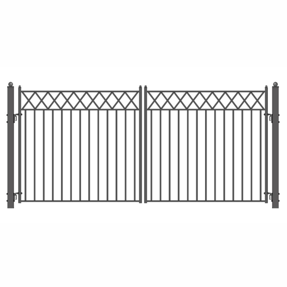 Stockholm 18 ft. x 6 ft. Dual Driveway Iron Steel Gates